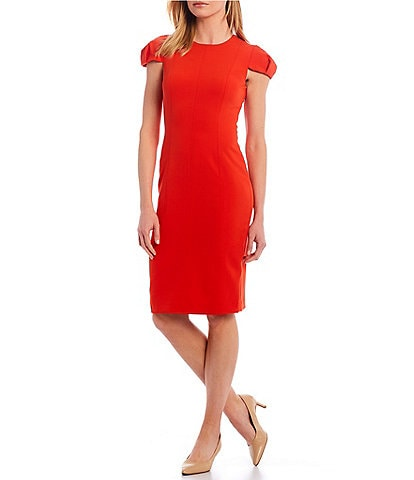 Antonio Melani Maureen Stretch Crepe Cap Sleeve Sheath Dress
