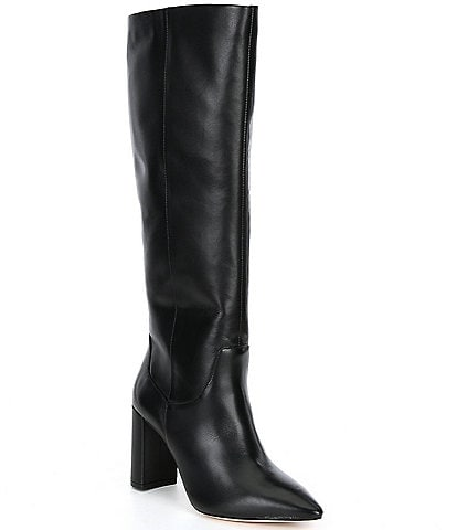 Antonio Melani Mckenda Leather Wide Calf Tall Shaft Boots