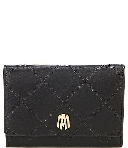 Antonio Melani Medium Quilted Leather Tri-Fold Wallet