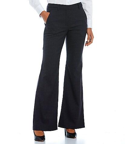 Antonio Melani Artemis Menswear Check Mid Rise Wide Leg Pants
