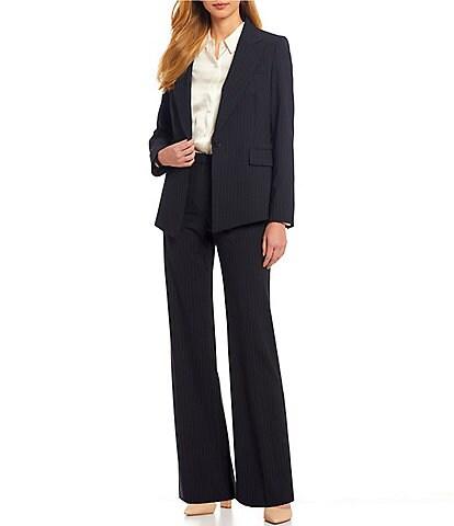 Antonio Melani Micah Long Sleeve Pinstripe Wool Blend Suiting Jacket