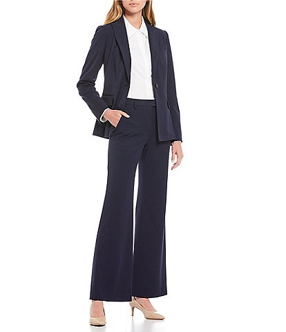 Antonio Melani Micah Twill Single Breasted Jacket & Artemis Wide Leg Plain-Weave Pants