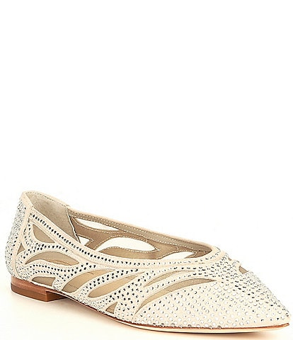 Antonio Melani Nadylie Suede Jewel Embellished Pointy Toe Flats