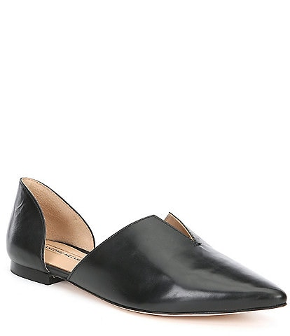 Antonio Melani Noora d'Orsay Leather Slip On Flats