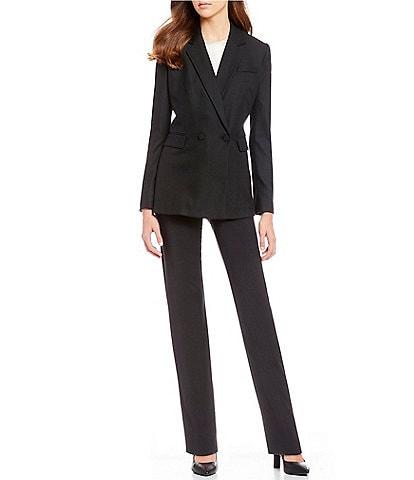 Antonio Melani Notch Collar Stretch Twill Bailey Jacket & Tallulah Wool Straight Pant