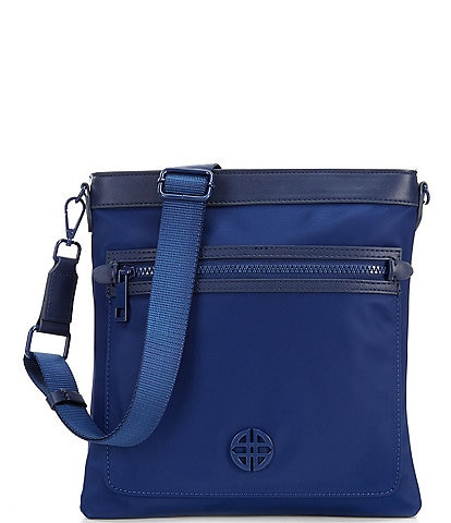 Antonio Melani Nylon Double Zip Crossbody Bag