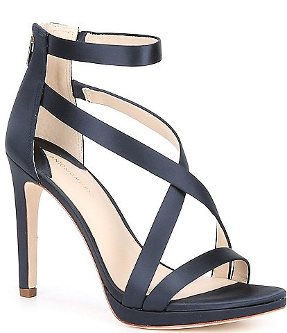 Antonio Melani Pamella Satin Platform Dress Sandals