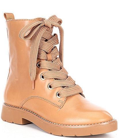 Antonio Melani Peyytonn Leather Combat Booties