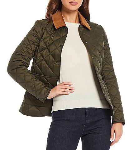 Antonio Melani Point Collar Long Sleeve Claudia Quilted Jacket