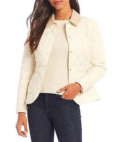 Antonio Melani Claudia Point Collar Long Sleeve Quilted Jacket