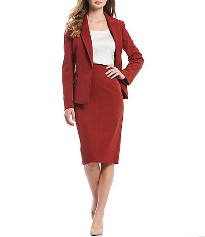 Antonio Melani Rashida Crepe Blazer Jacket & Mary Crepe Pencil Skirt