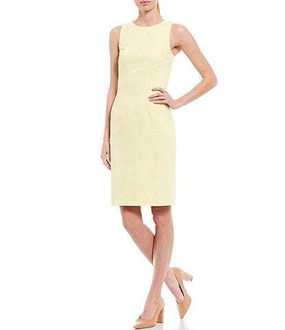 Antonio Melani Rena Stretch Crepe High Neck Sleeveless Sheath Dress