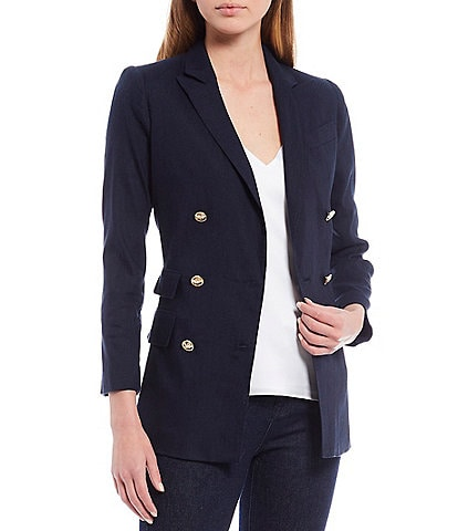 Antonio Melani Riviera Peak Lapel Collar Double Breasted Suiting Blazer