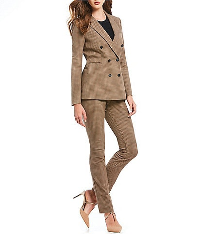 Antonio Melani Rosalie Novelty Checked Plaid Jacket & Novelty Check Gilda Straight Pant