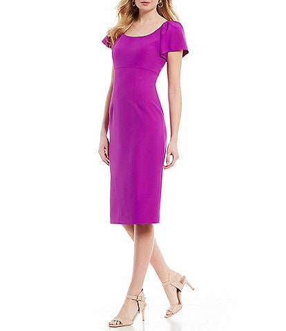 Antonio Melani Scoop Neck Karoline Sheath Midi Dress