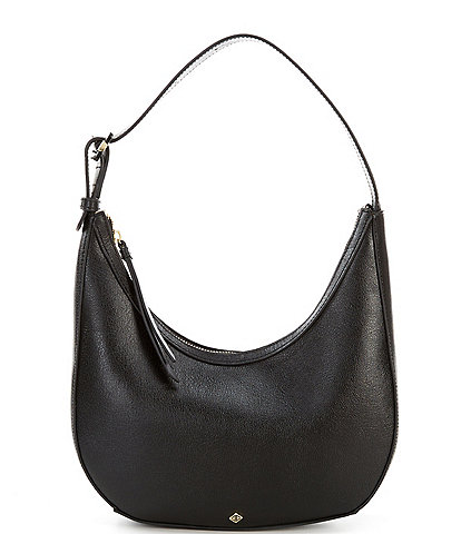 Antonio Melani Sleek N' Structured Leather Hobo Bag