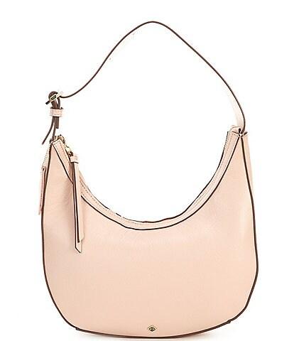 Antonio Melani Sleek N' Structured Leather Hobo Bag