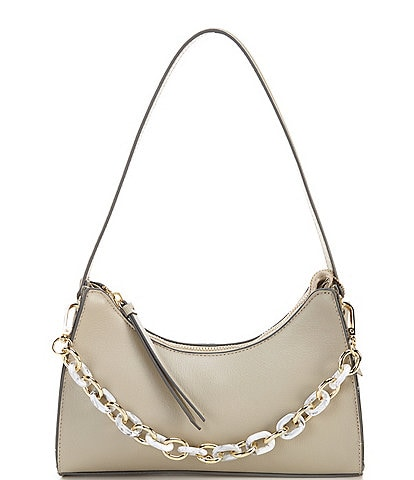 Antonio Melani Sleek N' Structured Leather Shoulder Bag