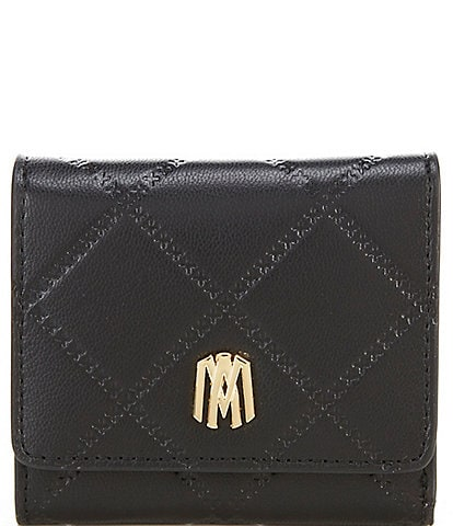 Antonio Melani Small Quilted Leather Tri-Fold Wallet