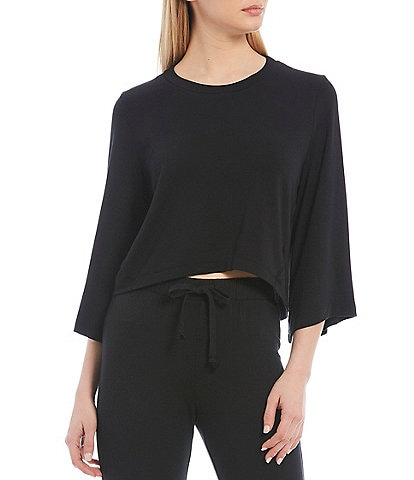 Antonio Melani Spell Bound 3/4 Sleeve Cropped Top