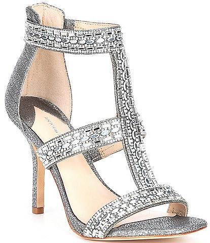 Antonio Melani Valorah Rhinestone Embellished T-strap Dress Sandals