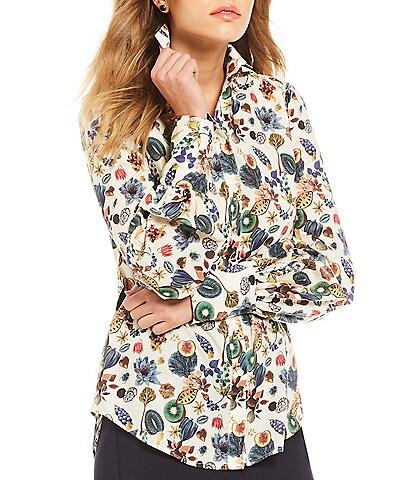 Antonio Melani Victoria Floral Print Blouse Made With Liberty Fabrics