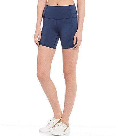 Antonio Melani Vitality 6#double; High Waist Comfortable Compression High-Tech Interlock Knit Hidden Pocket Bike Short