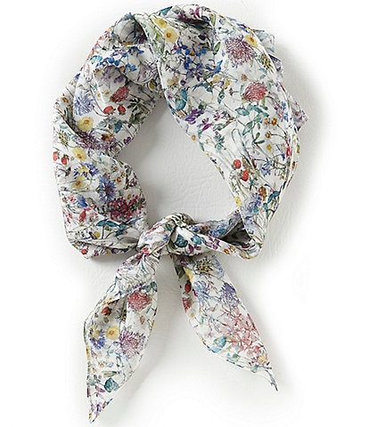 Antonio Melani Wild Flowers Silk Square Scarf Made with Liberty Fabrics
