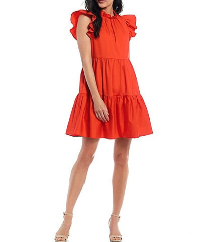 Antonio Melani x Kimberly Whitman Aleya Tiered Swing Dress