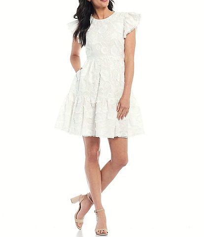 Antonio Melani x Kimberly Whitman Cory Embroidered Short Sleeve Floral Dress
