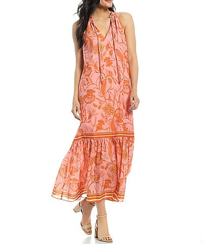 Antonio Melani x Kimberly Whitman Lily V-Neck Sleeveless Floral Maxi Dress