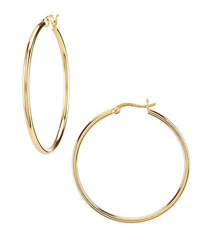 Argento Vivo Large Tube Hoop Earrings