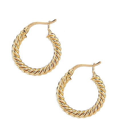 Argento Vivo Small Rope Twist Hoop Earrings