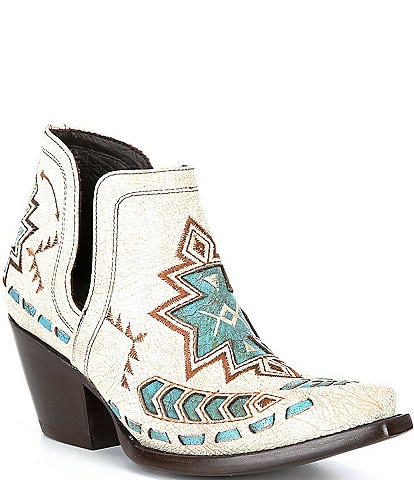 Ariat Dixon Embroidered Leather Western Booties