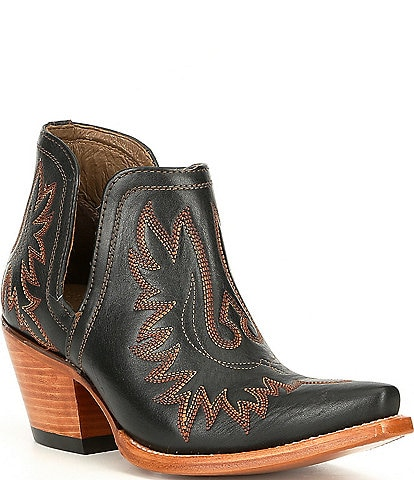 Ariat Dixon Leather Block Heel Western Boots