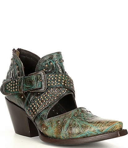 Ariat Dixon Rock N Roll Topaz Turquoise Leather Western Boots
