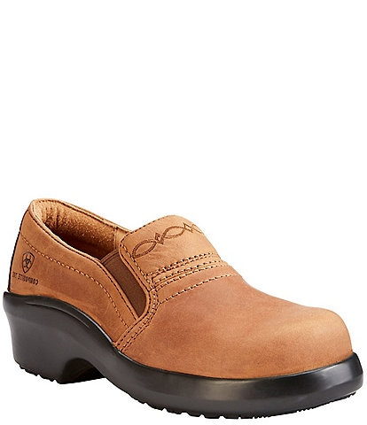 Ariat Expert Safety Leather Slip-On Work Clogs