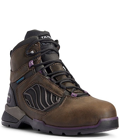 Ariat Rebar Flex 6#double; Carbon Toe Waterproof Leather Booties