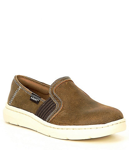 Ariat Ryder Brown Bomber Slip On Shoes