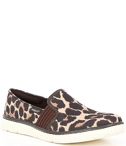 Ariat Ryder Leopard Print Fabric Slip On Shoes