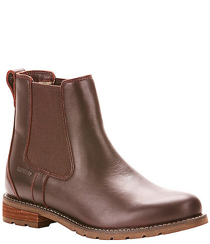 Ariat Wexford Waterproof Leather Block Heel Chelsea Booties