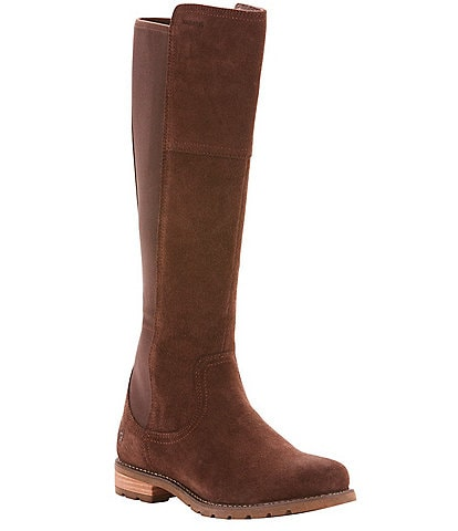 Ariat Sutton Waterproof Suede Tall Block Heel Boots