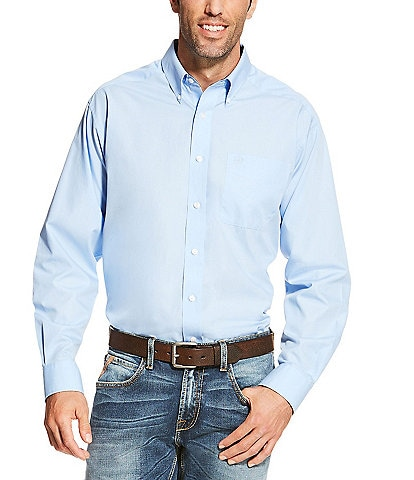 Ariat Wrinkle-Free Solid Long-Sleeve Woven Shirt
