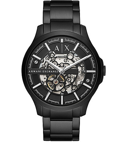 Armani Exchange Automatic Black Stainless Steel Watch