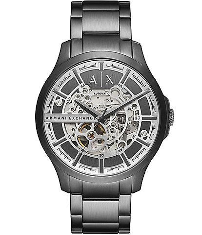 Armani Exchange Automatic Gunmetal Stainless Steel Watch