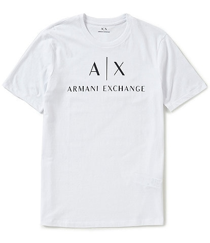 Armani Exchange AX Signature Logo Crew Neck Short-Sleeve Tee