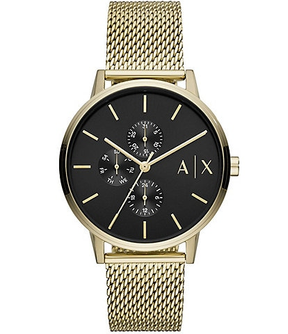 Armani Exchange Cayde Multifunction Gold-Tone Stainless Steel Watch