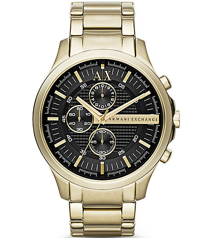 Armani Exchange Gold-Tone Stainless Steel Bracelet Watch