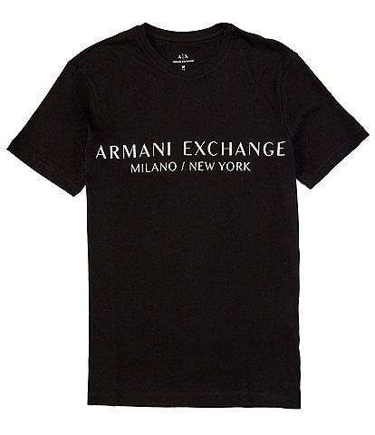 Armani Exchange Slim-Fit Milano Logo Short-Sleeve Tee
