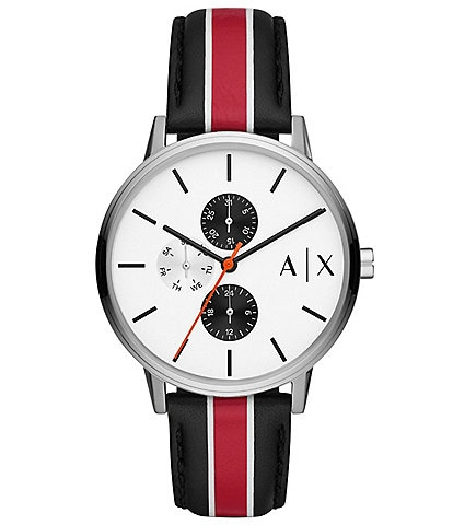 Armani Exchange Multifunction Multicolor Leather Watch